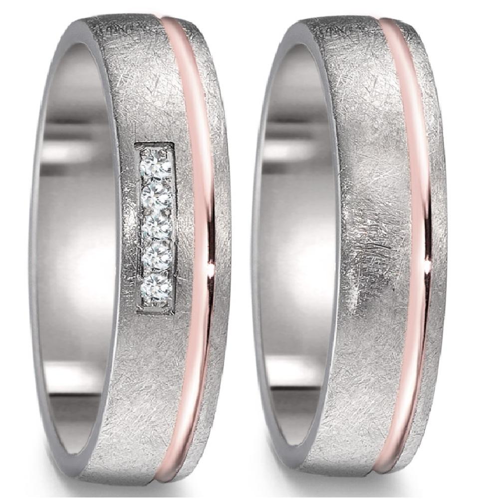 Mode Shiny Zirkonia 925 Sterling Silber Lovers Couple Hochzeit